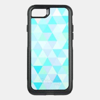 Blue Geometric Triangles OtterBox Commuter iPhone 7 Case