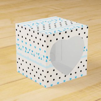 Blue Geometrics Favour Box