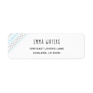 Blue Geometrics Return Address Label