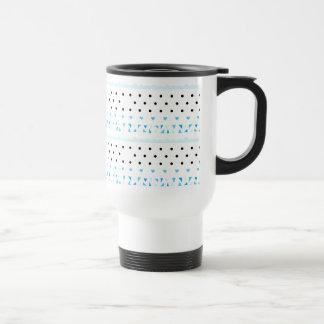 Blue Geometrics Travel Mug