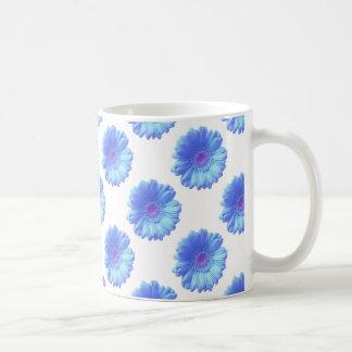 Blue gerbera daisy coffee mug