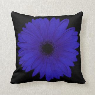 Blue Gerbera Throw Cushion