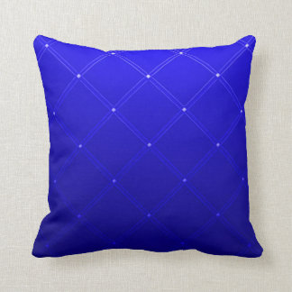 Blue Ghost Dragon Abstract Art Throw Pillow