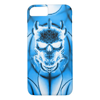 Blue Ghost Skull iPhone 7 Case