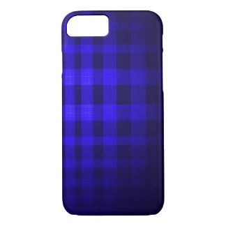 Blue ghost Tartan Pattern iPhone 7 Case