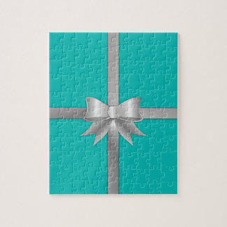 Blue Gift Box Jigsaw Puzzle