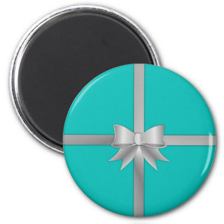Blue Gift Box Magnet