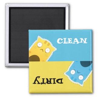 Blue Ginger Cat Dishwasher Magnet