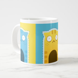 Blue Ginger Cat Jumbo Mug