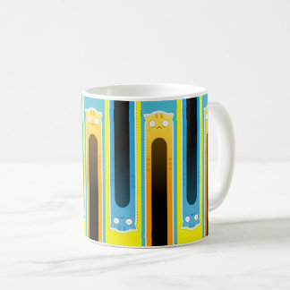 Blue Ginger Cat striped Classic Mug