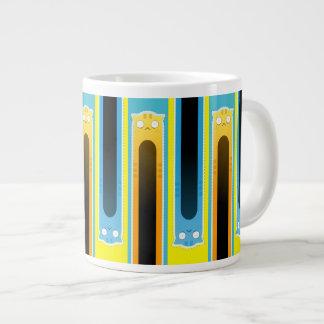 Blue Ginger Cat striped jumbo mug