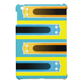 Blue Ginger Cat striped pattern iPad Mini Case