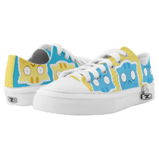 Blue Ginger Cat Zipz Low Top Shoes