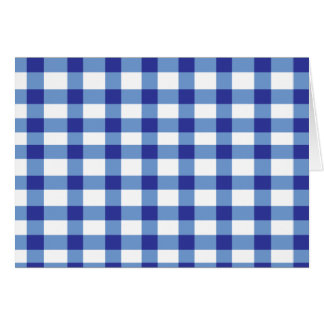 Blue Gingham Greeting Card