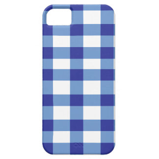 Blue Gingham iPhone 5 Cover