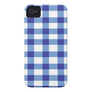 Blue Gingham iPhone 4 Case