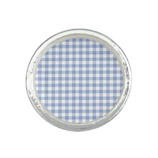 Blue Gingham checkered classic pattern