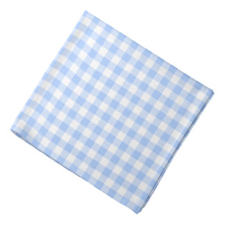 Blue Gingham Checks Pattern Head Kerchief