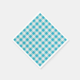Blue-Gingham-Checks-Unisex Disposable Serviettes