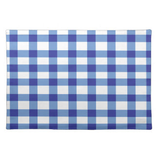 Blue Gingham Place Mats