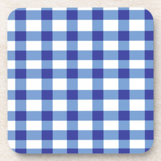 Blue Gingham Coaster