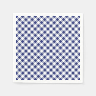 Blue Gingham Disposable Napkin