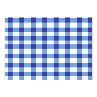 Blue Gingham 5x7 Paper Invitation Card