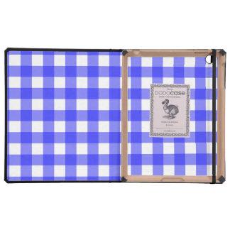 Blue Gingham iPad Folio Case