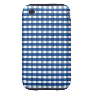 Blue Gingham iPhone 3 Tough Cover