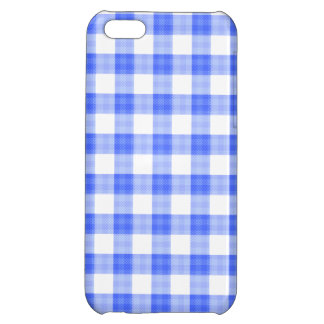 Blue Gingham iPhone 5C Covers