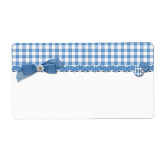 Blue Gingham Label