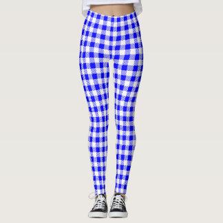 Blue Gingham Leggings