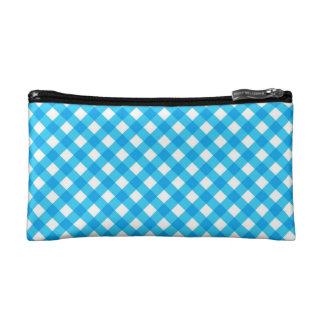 Blue Gingham Makeup Bag