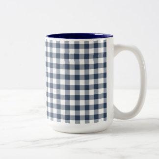 Blue Gingham Mug