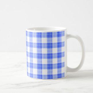 Blue Gingham Mugs