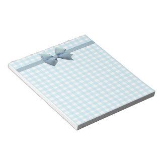 Blue Gingham Memo Pads