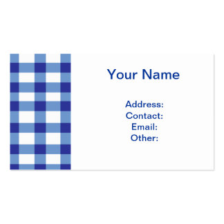 Blue Gingham Pack Of Standard Business Cards
