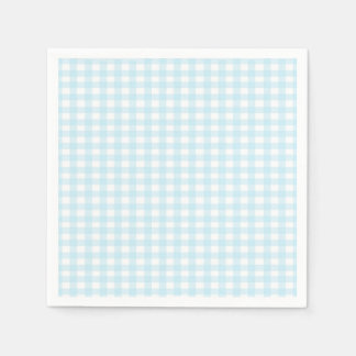 Blue Gingham Disposable Napkins