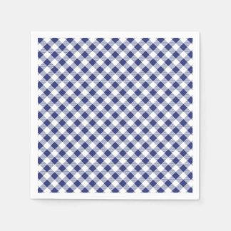Blue Gingham Paper Napkin
