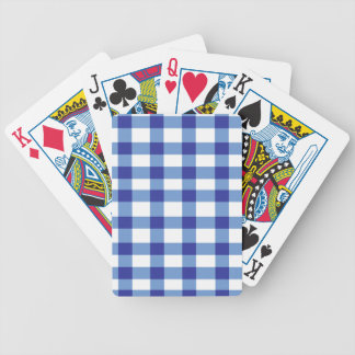 Blue Gingham Bicycle Poker Cards