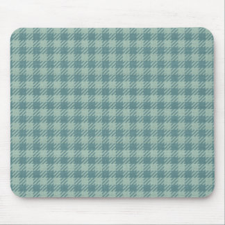 Blue Gingham Print Mouse Pad