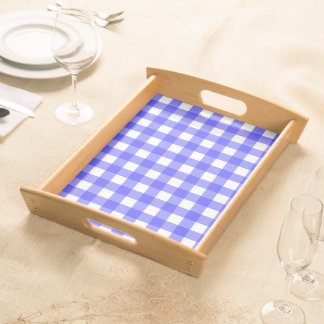 Blue Gingham Serving Tray