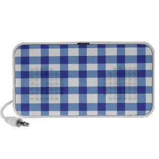 Blue Gingham Mini Speaker