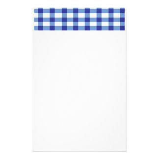 Blue Gingham Customized Stationery