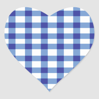 Blue Gingham Stickers