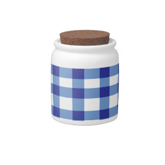 Blue Gingham Candy Dishes