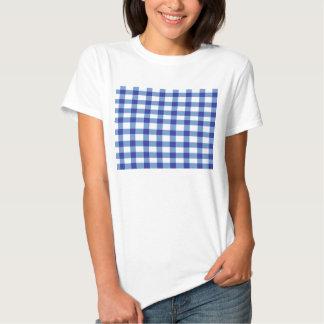 Blue Gingham T Shirt