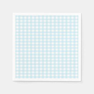 Blue Gingham Paper Napkins