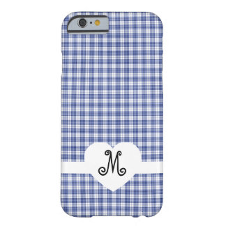 Blue Gingham with a Heart iPhone 6 Case
