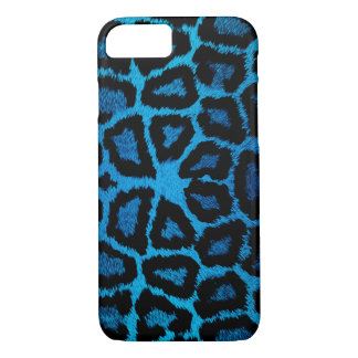Blue Giraffe Animal Print iPhone 7 Case